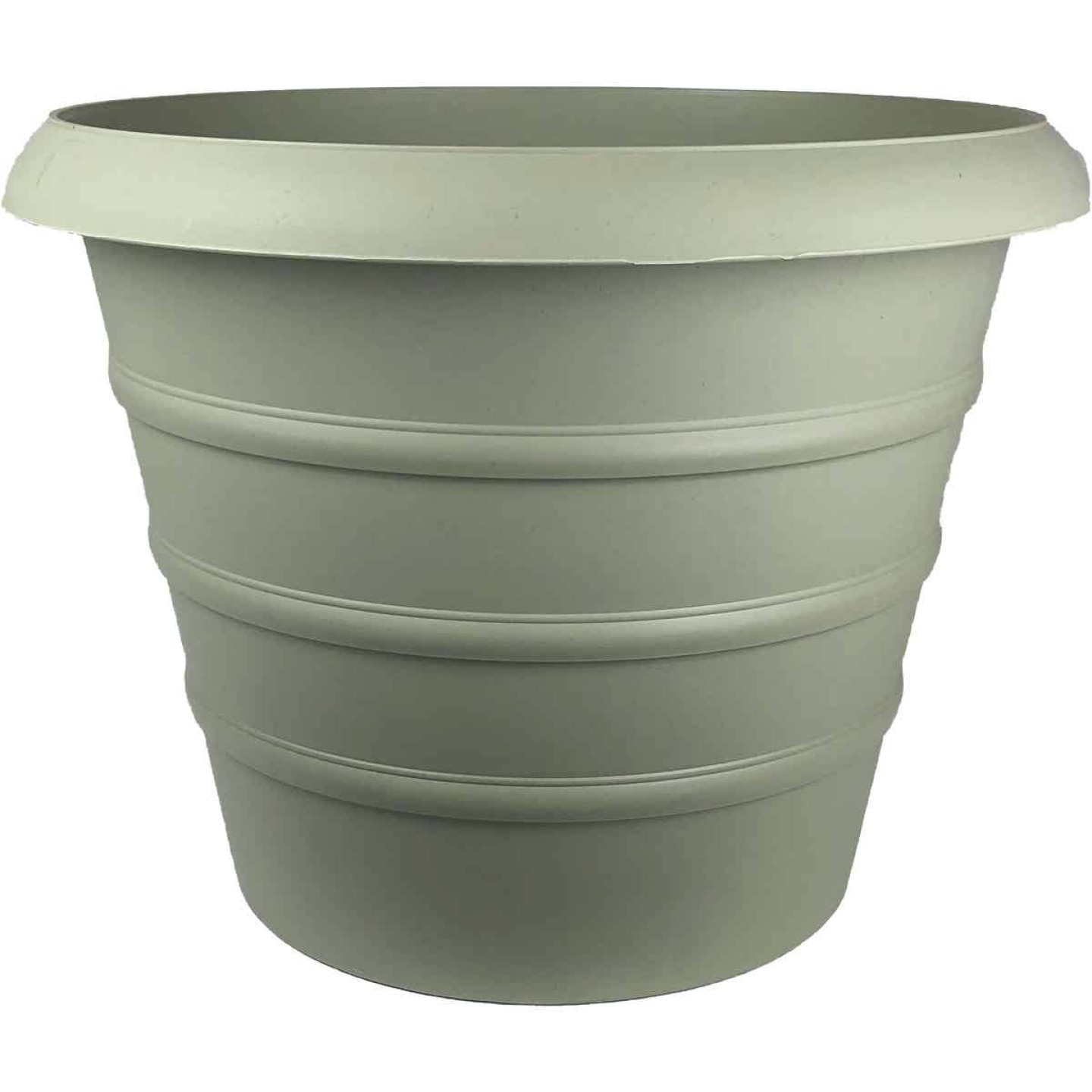 Myers Marina 12 In. Dia. Seafoam Poly Planter Image 1
