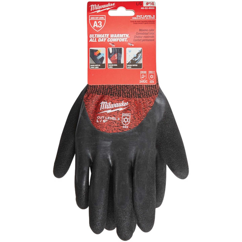 Milwaukee Unisex L Latex Coated Cut Level 3 Insulated Work Glove Image 2