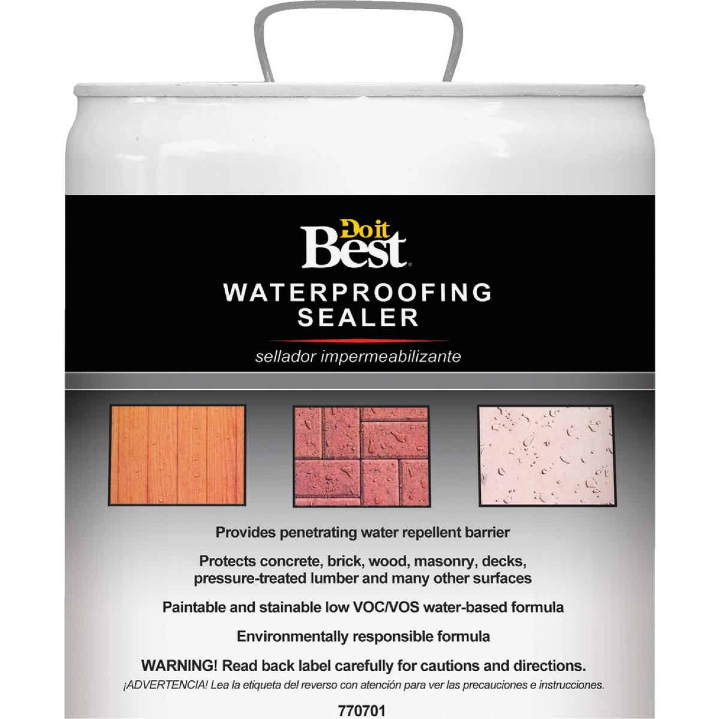 Do it Best Clear Water-Based Waterproofing Sealer, 5 Gal. Image 1
