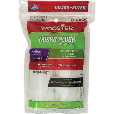 Wooster Jumbo-Koter 4-1/2 In. x 5/16 In. Micro Plush Mini Microfiber Roller Cover (2-Pack)
