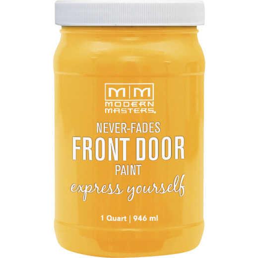 Modern Masters Acrylic Satin Front Door Paint, Happy, 1 Qt.