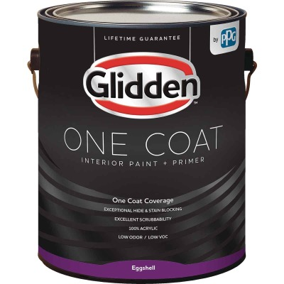Glidden One Coat Interior Paint + Primer Eggshell Ultra Deep Base 1 Gallon
