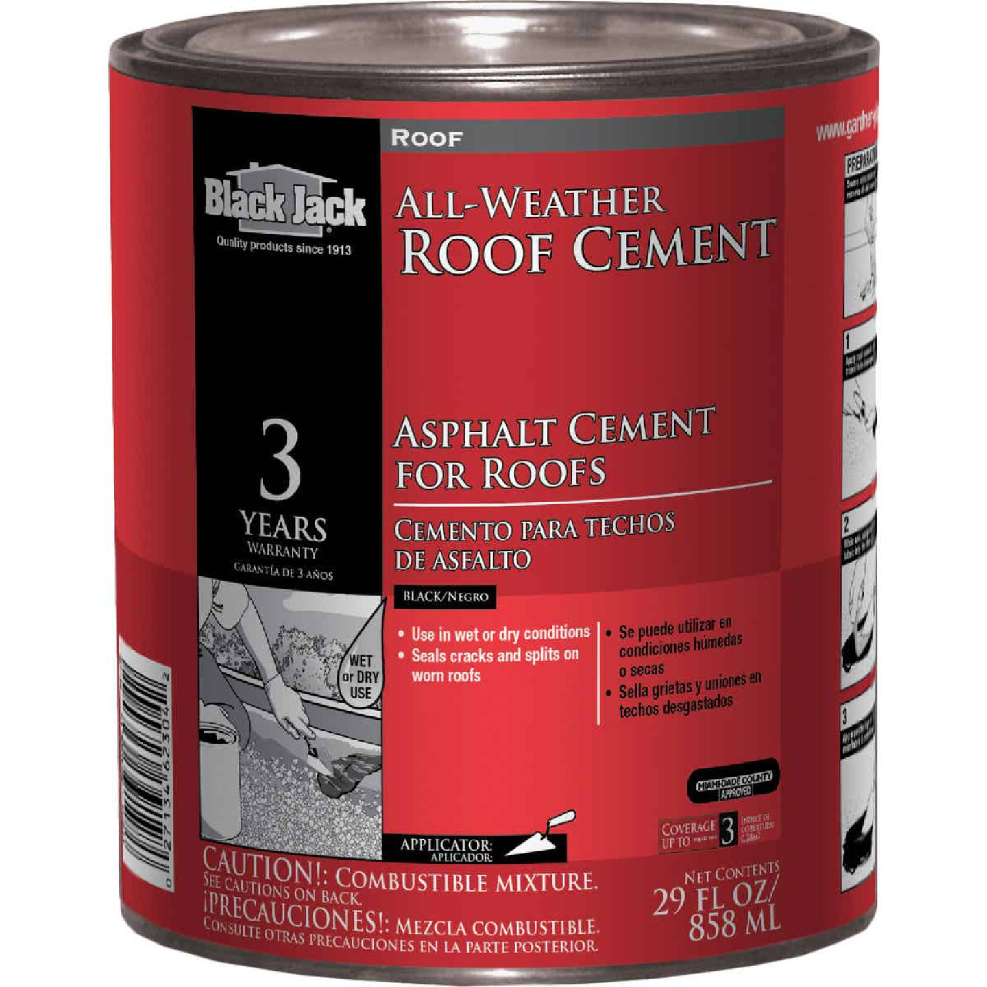 Black Jack 1 Qt. All-Weather Roof Cement Image 1