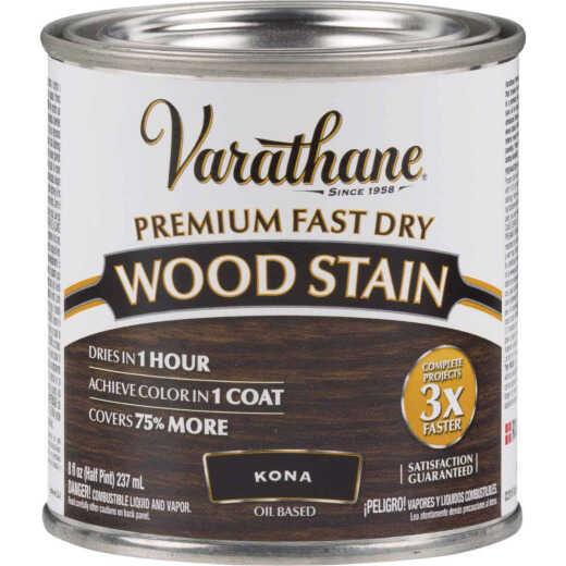 Varathane Fast Dry Kona Wood Urethane Modified Alkyd Interior Wood Stain, 1/2 Pt.
