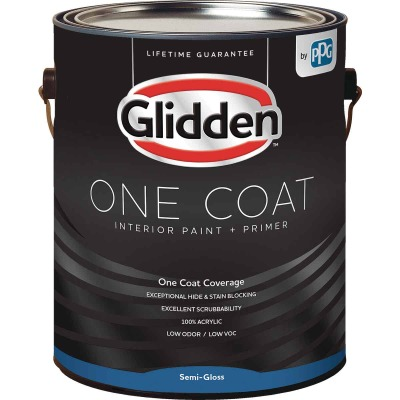 Glidden One Coat Interior Paint + Primer Semi-Gloss Midtone Base 1 Gallon