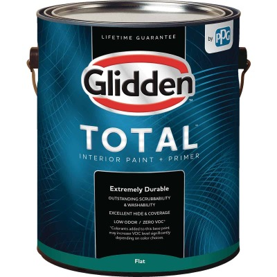 Glidden Total Interior Paint + Primer Flat Ultra Deep Base 1 Gallon