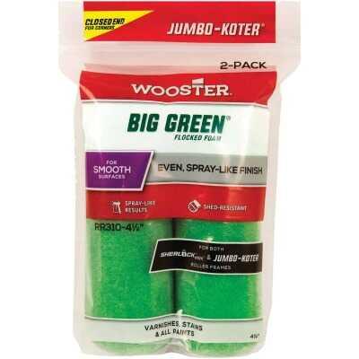 Wooster Jumbo-Koter 4-1/2 In. x 3/8 In. Flocked Mini Foam Roller Cover (2-Pack)