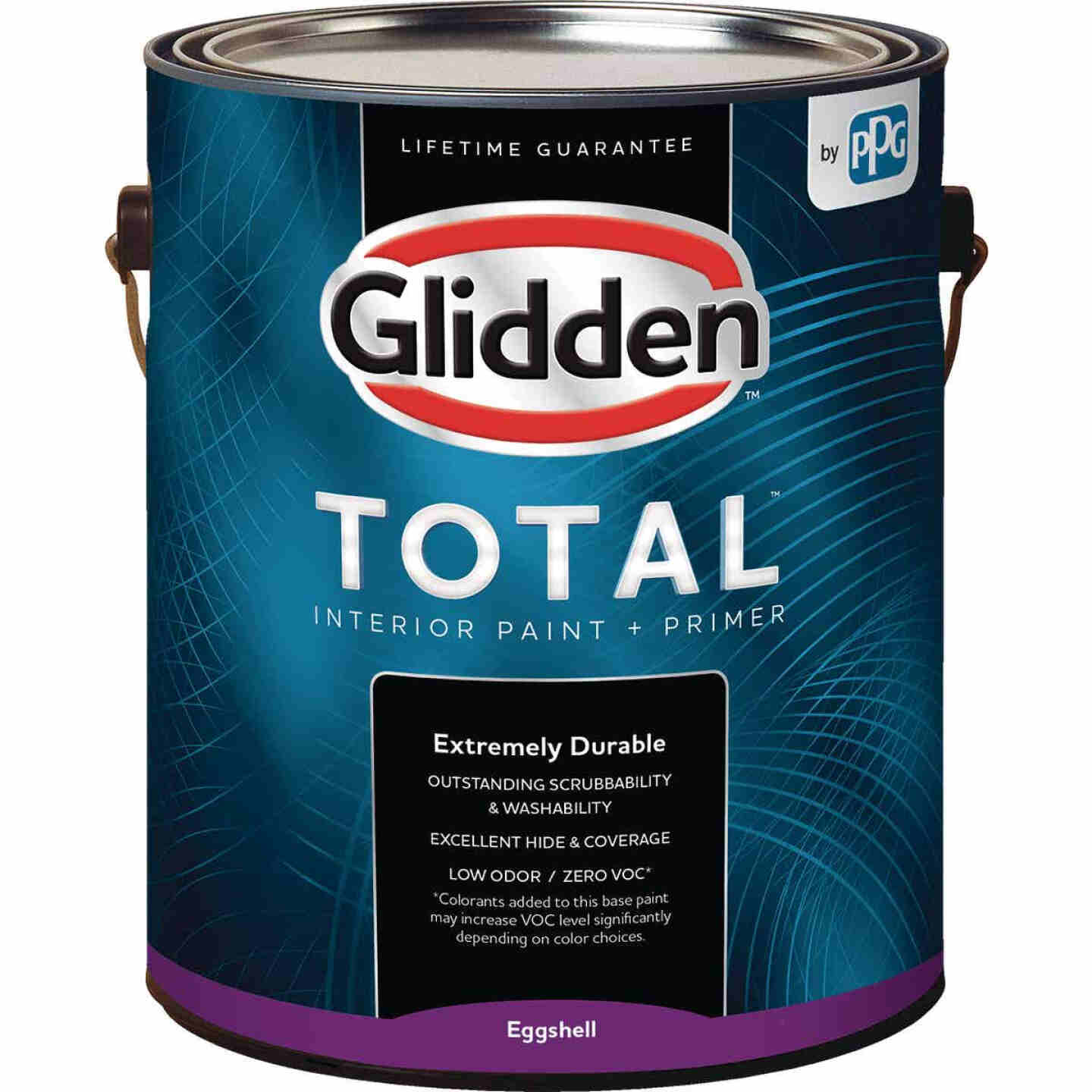Glidden Total Interior Paint + Primer Eggshell White & Pastel Base 1 Gallon Image 1