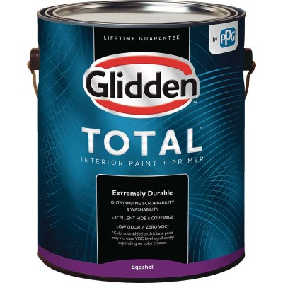 Glidden Total Interior Paint + Primer Eggshell Midtone Base 1 Gallon