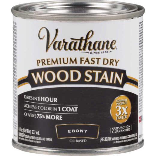 Varathane Fast Dry Ebony Wood Urethane Modified Alkyd Interior Wood Stain, 1/2 Pt.