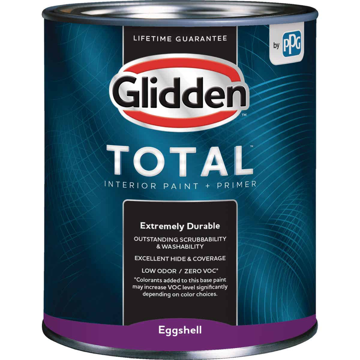 Glidden Total Interior Paint + Primer Eggshell Ultra Deep Base Quart Image 1