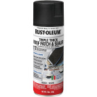 Rust-Oleum 13 Oz. Roofing Triple Thick Roof Patch & Sealer Black Spray Image 1