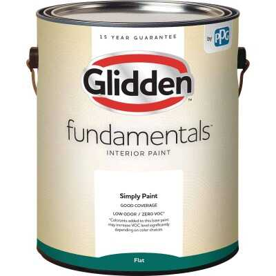 Glidden Fundamentals Interior Paint Flat Midtone Base 1 Gallon