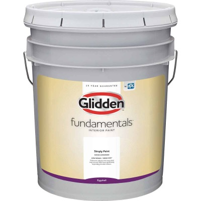 Glidden Fundamentals Interior Paint Eggshell White & Pastel Base 5 Gallon