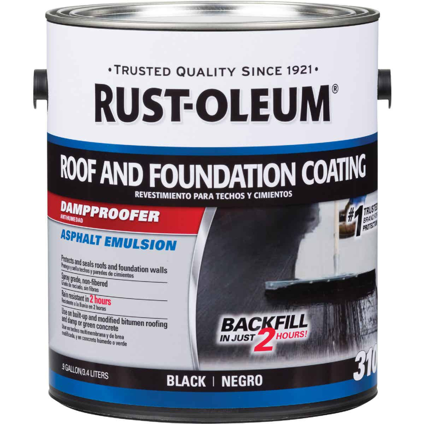 Rust-Oleum 310 1 Gal. Roof and Foundation Coating Image 1