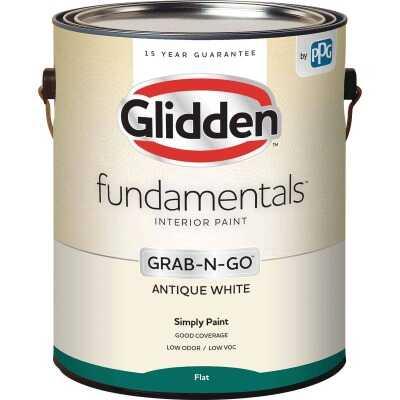 Glidden Fundamentals Grab-N-Go Antique White Flat 1 Gallon