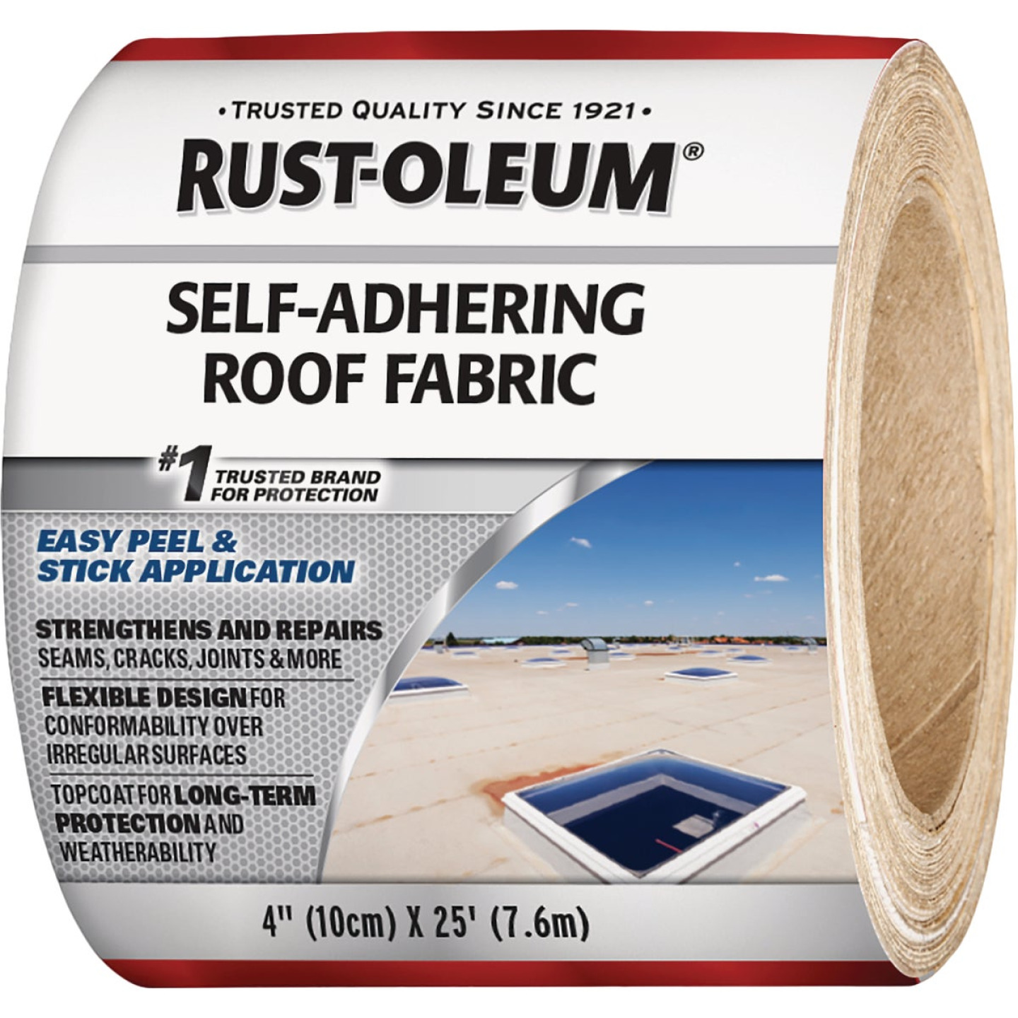 Rust-Oleum 4 In. x 25 Ft. Self-Adhering Roof Fabric Image 1