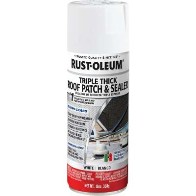Rust-Oleum 13 Oz. Roofing Triple Thick Roof Patch & Sealer White Spray