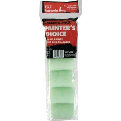 Wooster Painter's Choice 4 In. x 1/2 In. Knit Fabric Roller Cover (6-Pack)