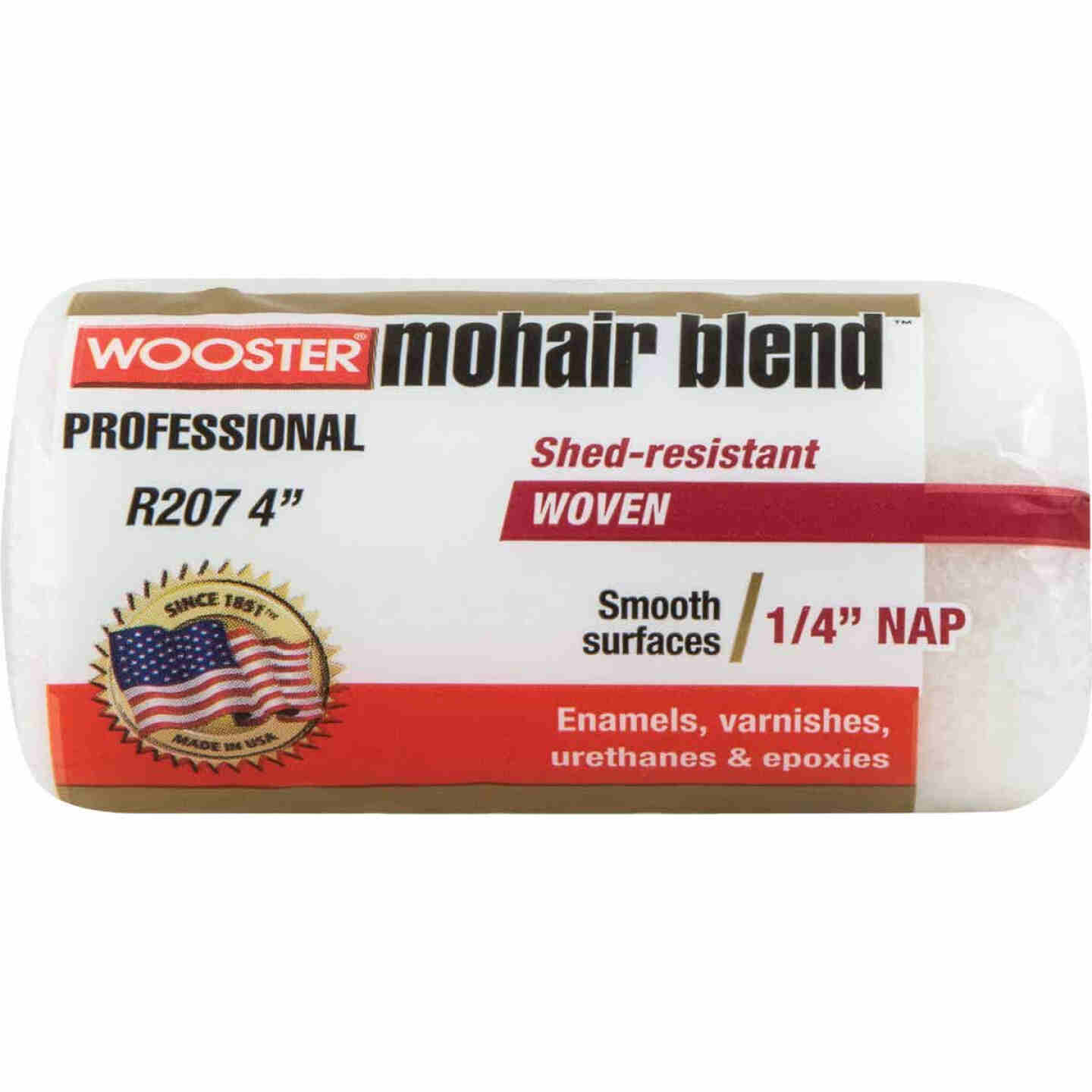 Wooster Mohair Blend 4 In. x 1/4 In. Woven Fabric Roller Cover Image 1