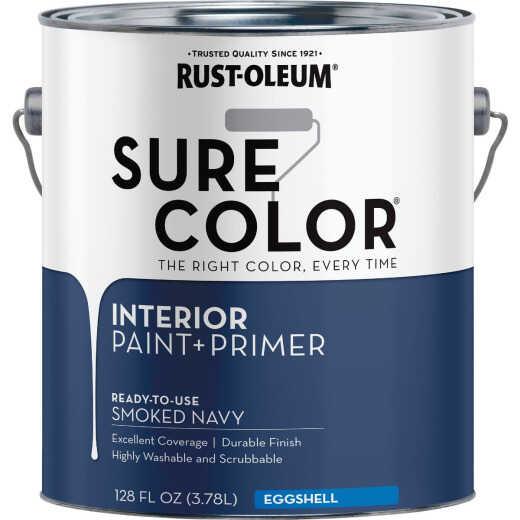 Simply Home Eggshell Smoked Navy Interior Wall Paint, Gallon