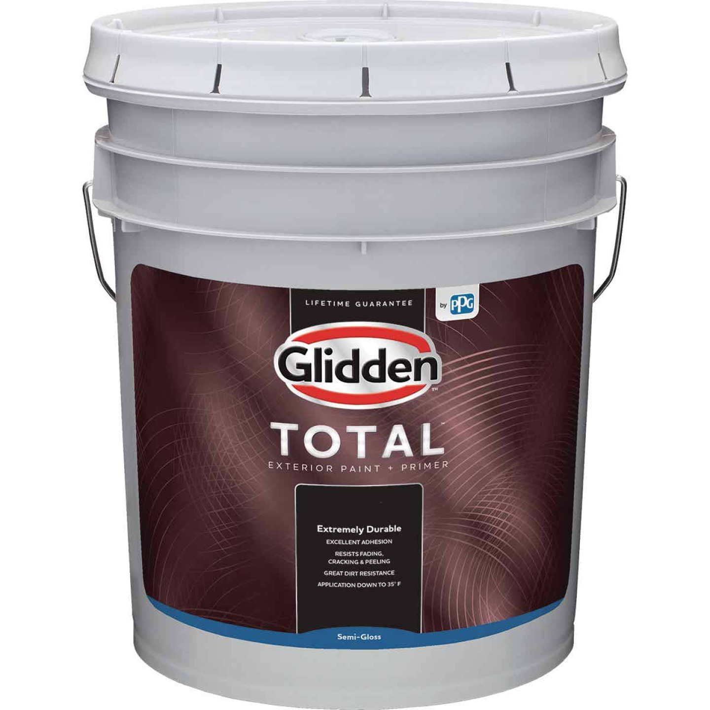 Glidden Total Exterior Paint + Primer Semi-Gloss Midtone Base 5 Gallon Image 1