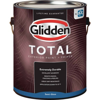 Glidden Total Exterior Paint + Primer Semi-Gloss Midtone Base 1 Gallon