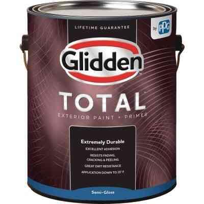 Glidden Total Exterior Paint + Primer Semi-Gloss Ultra Deep Base 1 Gallon