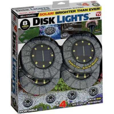 Bell+Howell Gray Stone Disk Light